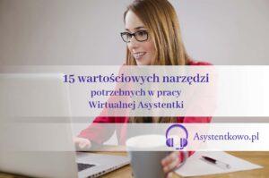 narzędzia w pracy wirtualnej asystentki