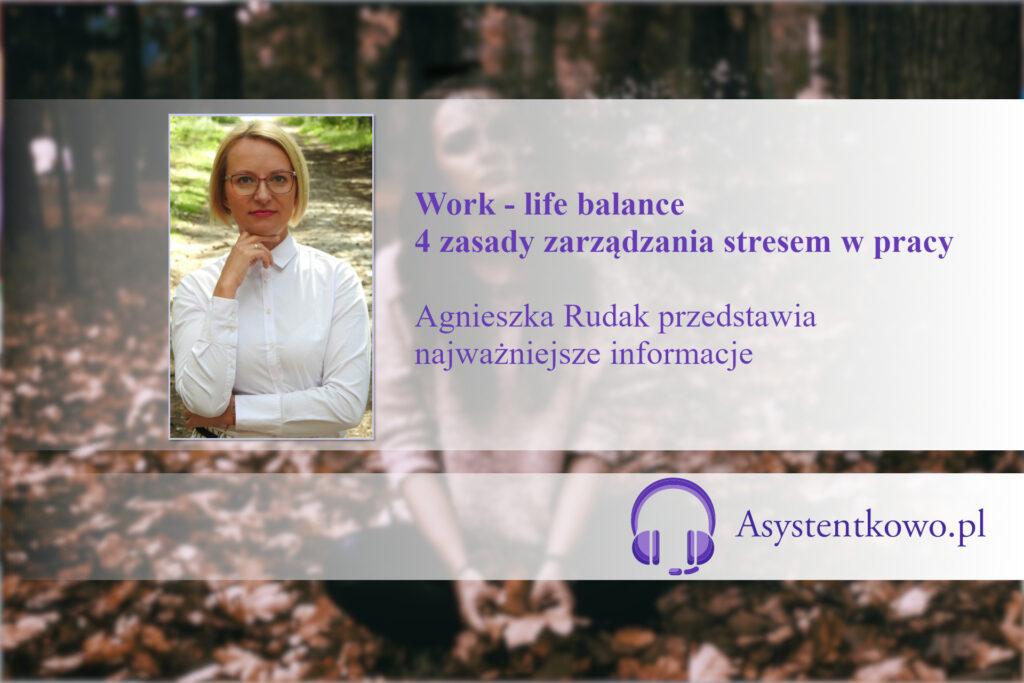 Zarządzanie stresem - Agnieszka Rudak - Asystentkowo.pl